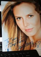Autographed Photo with COA James Bond 007 Heidi Klum  From Russia with Love