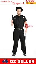 Mens Police Costume Cop Officer Fancy Uniform Costume Fancy Dress M L XL