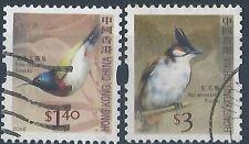 M059) Hong Kong. usado. 2006. SG 1417,1420. Sellos de Bobina. pájaros.