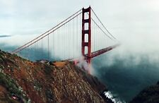 Golden Gate Bridge in Fog. Giclee Photo Reproduction Prints on Canvas or Paper
