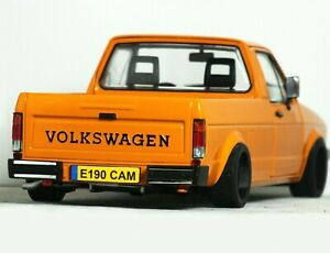 "1:18 Custom ""MK1 VOLKSWAGEN CADDY Pick-Up MODIFIED TUNING Rabbit VW GOLF GTi VR6"