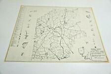 VINTAGE 1950'S VENANGO COUNTY IN PENNSYLVANIA GENERAL HIGHWAY MAP 18