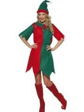NEW Elf Costume - Xmas Helper Ladies Funny Fancy Dress Christmas Costume