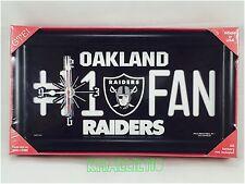 NFL Oakland Raiders #1 Fan License Plate Shaped Wall Clock
