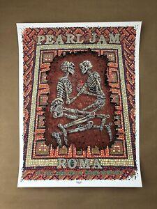 Pearl Jam Rome Live Streaming Gig Screen Print by EMEK - NT Mondo