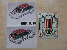 FIAT RITMO ABARTH GR 2 RALLYE MONTE CARLO 1979 BETTEGA/EKLUND DECALS TRON