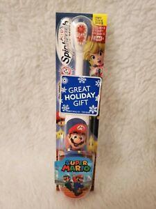 NEW Arm & Hammer Kids Spinbrush Super Mario Soft Powered Toothbrush