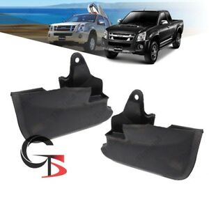 Fits Isuzu D-Max Holden 07 08 - 2010 11 Front Mud Splash Guard Rubber Black 2Pc