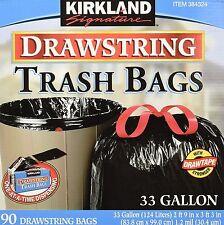 Kirkland Signature Drawstring Trash Bags - 33 Gallon - Xl Size - 90 count