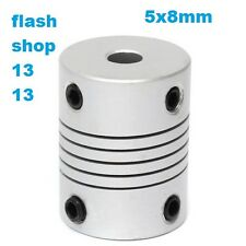 5mm x 8mm Aluminum Flexible Shaft Coupling OD19mm x L25mm CNC Stepper Motor Coup