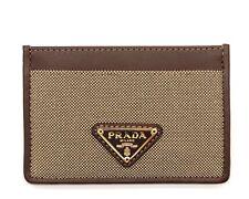 Prada Card Case Wallet Brown Jacquard NIB