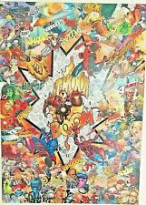 XALU collage original comics marvel avengers street art garcin obey banksy arman