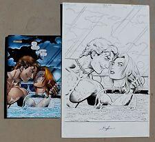 Original Comic Art Invisible Girl Black Tide #7 Page 1 Splash Norm Breyfogle