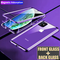 360° Magnetic Metal Double Sides Tempered Glass Case Cover for iPhone 11 Pro Max
