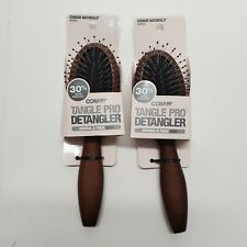 2 Conair Tangle Pro Detangler Mini Hairbrush Wood naturals 82952 normal/thick ha