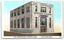 Postcard NJ Atlantic City Atlantic City Bankers Tavern Now The Outlets B4
