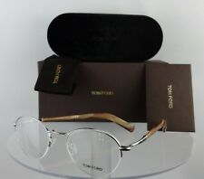Brand New Authentic Tom Ford TF 5334 Eyeglasses 018 50mm Brown Horn Silver