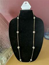 $19.95 Tags Long Gold Color Circle Pendant Necklace by Christopher&Banks #2489