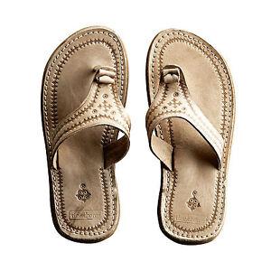 Tine K Home Zehentrenner Sandale Leder Stil Marokko Handarbeit Gr. 38