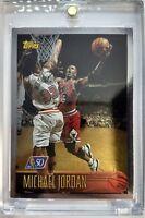 Rare: 1996 96 TOPPS NBA AT 50 Michael Jordan #139, FOIL PARALLEL, CHICAGO BULLS