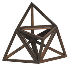 """Elevated Tetrahedron 3D Geometric Fire Figurine Model 9"""" Polyhedron Home Accent"""