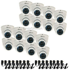 16x Wide Angle Dome CCD Security Camera 600TVL Outdoor Day Night w/ DC Power CQD
