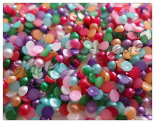 500 x Acrylic Pearl Flatback Cabochons - 4mm - Mixed Colour