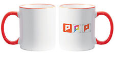 Sale! 11 oz Ceramic Sublimation Mugs - Rim & Handle - Orange (21129)