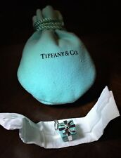 $260 Tiffany & Co. Sterling Silver AG 925 Blue Enamel Gift Box Charm w/ Pouch
