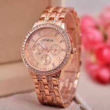 Geneva Women Watch Rose Gold Diamond Studded Ladies Watch