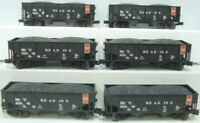 ✅MTH PREMIER READING 34' AAR COMPOSITE 2 BAY COAL HOPPER 6 CAR SET! O SCALE
