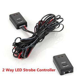 12V/24V Car Auto LED Flash Strobe Controller Box LED Light Flasher Module 2 Ways