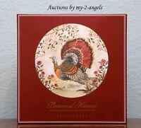 NEW Pottery Barn Thanksgiving Fall BOTANICAL HARVEST TURKEY Dinner Plates SET/4