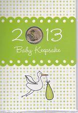 2013 Uncirculated coloured Lunar snake $1 coin  'Baby Keepsake'