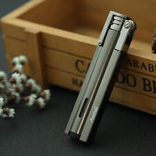 Gray Butane Gas Refillable Lighter Jet Flame Flint Cigarette Lighter