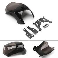 Headlight Fairing Bullet Windshield & Bracket For FLHRS Road King FLHR 94-17 A2