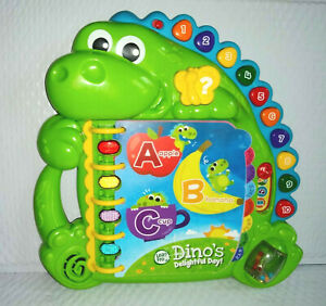 LeapFrog Leap Frog DINO'S DELIGHTFUL DAY! ABCs #s 3 Play Modes Lights Music Fun