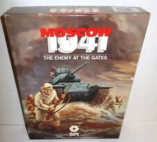 Boxed BOARD WAR GAME Moscow 1941 Enemy at the Gates op 1987 TSR-SPI