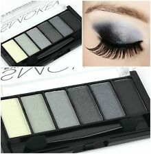 TECHNIC - SMOKEY - 6 Shade Eyeshadow Palette - BLACK - GREY - SILVER - WHITE -