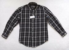 US POLO ASSN Black Plaid Shirt Men's Long Sleeve Casual Size M
