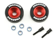 Traxxas 5186 Red Aluminum Wheelie Bar Wheels & Rubber Tires : Rustler XL5 VXL