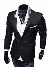 Handsome Men Casual Slim Fit Two Button Suit Blazer Coat Jacket Tops outwear UK