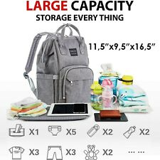 Diaper Bag Backpack Large Multi-Function Waterproof Baby Travel Bags for Mom Dad