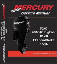 Mercury 50 60 / 40 50 60 BigFoot / 40 Jet EFI Outboard Motors Service Manual CD