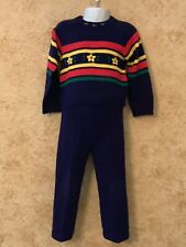 Baby Togs Girls Sweater And Sweatpants Set Blue Size 4T