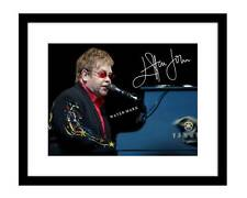 Elton John 8x10 signed photo print Rocket Man piano concert