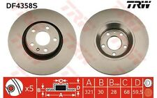TRW Disco de freno (x2) Antes 321mm ventilado AUDI A6 A8 FAW-AUDI DF4358S