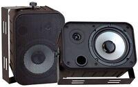 NEW PyleHome PDWR50B 6.5'' Indoor/Outdoor Waterproof Speakers (Black)