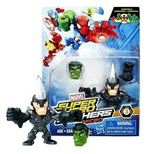 MARVEL SUPER HERO MASHERS MICRO: MARVEL'S RHINO WITH HULK HEAD NEW IN PACKAGE