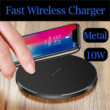 SUPER FAST Qi 10W WIRELESS PHONE CHARGER PAD FOR APPLE ANDROID SAMSUNG HUAWEI